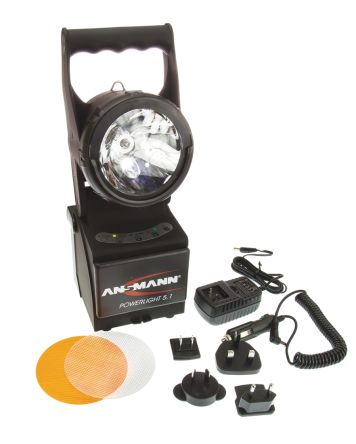 Ansmann Powerlight Halogen, LED Torch - Rechargeable 50 lm