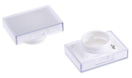 White rectangular lens for switch
