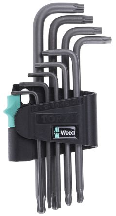 Wera 9 Piece L Shape Torx Key Set T8