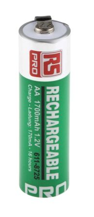 NiMH Rechargeable AA Batteries, 1700mAh product photo