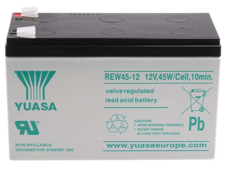 rew45 12 yuasa rew45 12 12v lead acid battery 8ah yuasa. Black Bedroom Furniture Sets. Home Design Ideas