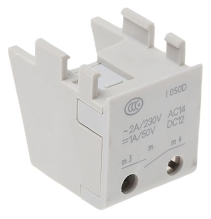 Auxiliary Contact, NO, 2 A, 230 V ac, 50 V dc