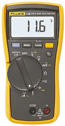 Fluke 116 Handheld Digital Multimeter, 600μA ac 600V ac 600μA dc 600V dc