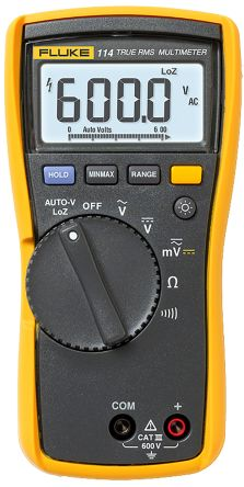 Fluke 114 Handheld Digital Multimeter 600V ac 600V dc