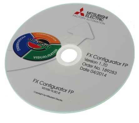 Mitsubishi PLC Programming Software for use with FX3U Series for Windows  2000, Windows 98, Windows XP