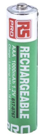 N113AQ2-280 RS PRO | RS PRO NiMH AAA Rechargeable Battery