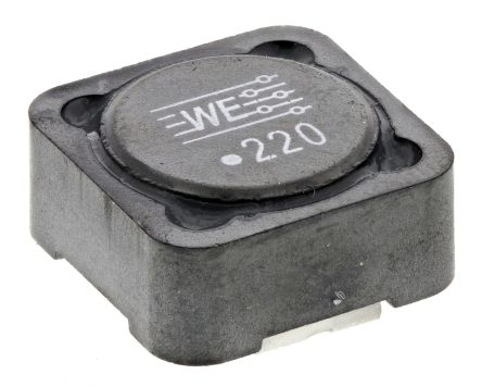 Wurth, WE-PD Shielded Wire-wound SMD Inductor with a Ferrite Core, 22 μH ±20% 3.37A Idc