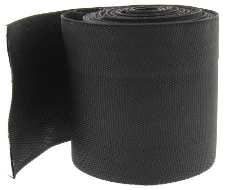 TE Connectivity Black Halogen Free Heat Shrink Tubing 70mm Sleeve Dia. x 5m Length, HFT5000 Series 2:1 Ratio