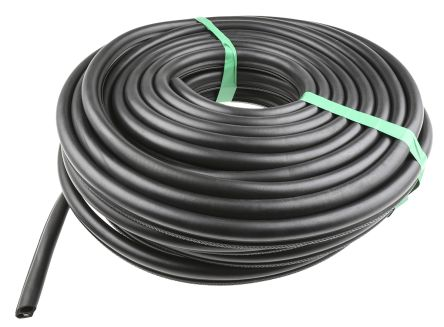 RS PRO EPDM Rubber Black Edge Protector Strip, 20m x 17.5mm x 25mm