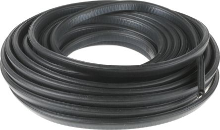 RS PRO Rubber Black Edge Protector Strip, 20m x 15.6mm x 8.5mm
