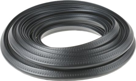 RS PRO Rubber Black Edge Protector Strip, 10m x 22mm x 10mm