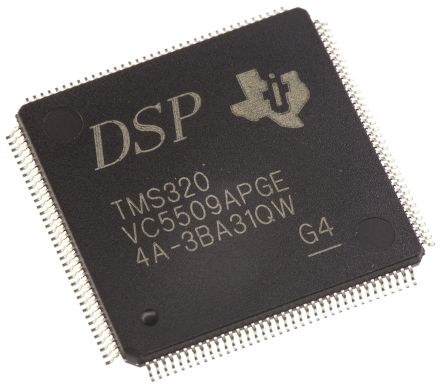 TMS320VC5509APGE Texas Instruments, 32bit DSP 200MHz 64 kB ROM 144-Pin LQFP