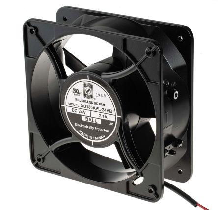 Axial Fan, 180 x 180 x 65mm, 470cfm, 24W, 24 V dc product photo
