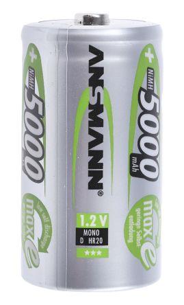 MaxE NiMH Rechargeable D Batteries, 5000mAh product photo