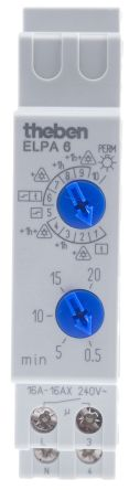 Staircase Timer Light Switch 1 Channel, 220 → 240 V ac, 0.5 → 20min Setting Time