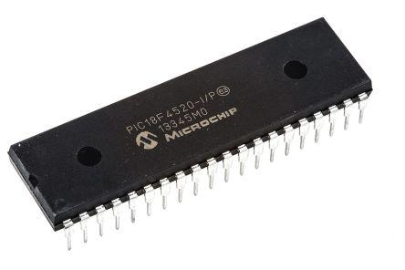 Microchip PIC18F4520-I/P, 8bit PIC Microcontroller, 40MHz, 32 kB, 256 B Flash, 40-Pin PDIP