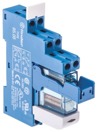 48 Series 12V dc DIN Rail Interface Relay Module, DPDT, Screw product photo