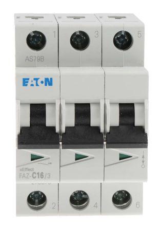 faz c16 3 eaton xeffect faz mcb mini circuit breaker 3p, 16 a, 10C16 3p 16a Miniature Circuit Breakers Open Spacein Circuit Breakers #19