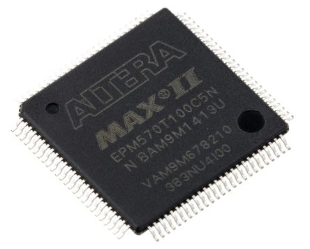 Altera EPM570T100C5N, Complex Programmable Logic Device CPLD MAX II Flash 440 Cells, 76 I/O, 57 Labs, ISP, 100-Pin TQFP
