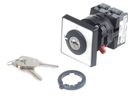 2 positions 90° Rotary Cam Switch, 600 V, 25 A, Handle