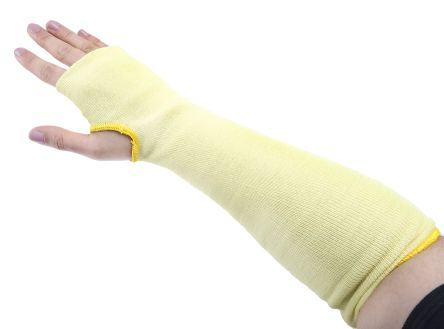 Touchstone Yellow Reusable Kevlar Cut Resistant Arm Protector 14in One Size product photo