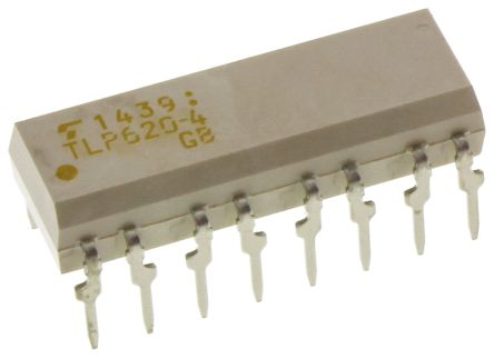 Toshiba, TLP620-4(F) AC Input Transistor Output Quad Optocoupler, Through Hole, 16-Pin PDIP