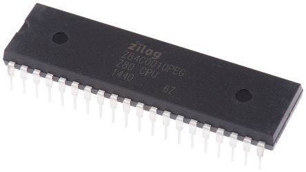 Zilog Z84C0010PEG, 8bit Z80 Microcontroller, 10MHz ROMLess, 40-Pin PDIP