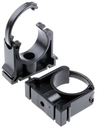 Georg Fischer PP Black Saddle Clamp 22mm x , 7mm