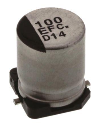EEEFC1E101P | Panasonic FC, SMD Alu Kondensator, Elko radial 100μF ...