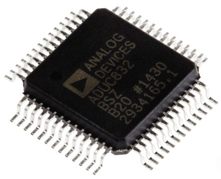 Analog Devices ADUC832BSZ, 8bit 8052 Microcontroller, 16.78MHz, 4 kB, 62 kB Flash, 52-Pin MQFP