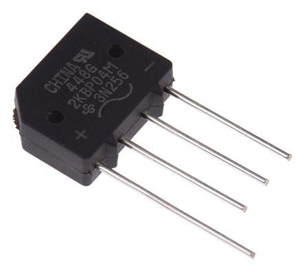 2KBP04M-E4/51, Bridge Rectifier, 2A 400V, 4-Pin KBPM product photo