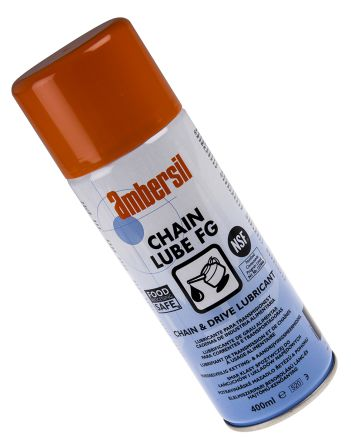 Ambersil Lubricant Oil, PTFE 400 ml Chain Lube Aerosol,Food Safe