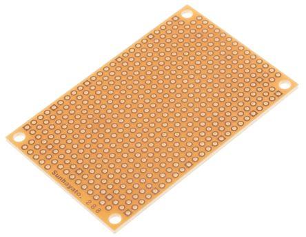ICB-288, Matrix Board FR1 with 1mm Holes 2.54 x 2.54mm Pitch, 72 x 47 x 1.6mm