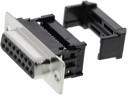 1.27mm Pitch 15 Way IDC D-sub Connector, Socket, Metal Shell product photo