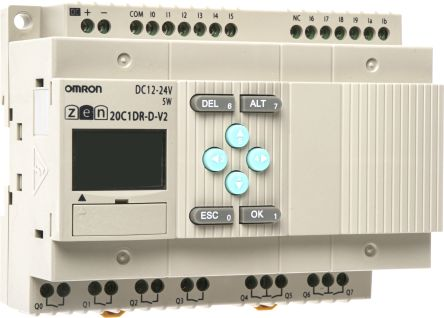 Omron ZEN Logic Module, 12 → 24 V dc Relay, 12 x Input, 8 x Output With  Display