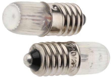 9 mm Orange Neon Indicator Lamp, E10, 220/250 V 600 μA