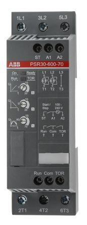 ABB 30 A Soft Starter PSR Series, IP20, 15 kW, 208 → 600 V