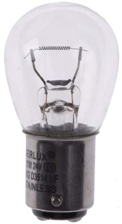 Moflash BA15d Incandescent Bulb, Clear, 24 V dc