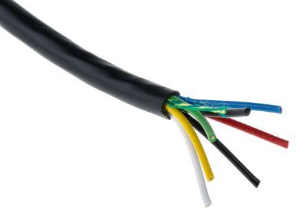 Steuerleitung, 6 x 0,22 mm², 24 AWG, PVC ungeschirmt, 440 V / 1 A ...