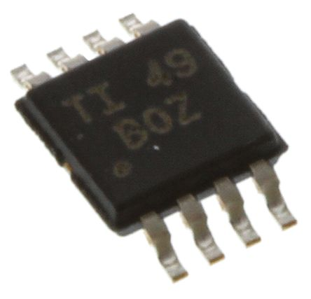 XTR117AIDGKT Texas Instruments, 4 → 20 mA Current Loop Transmitter 5V 380kHz 8-Pin MSOP