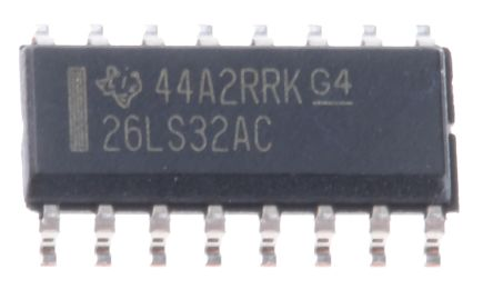 Texas Instruments AM26LS32ACDR, Quad-RX Line Receiver, RS-422, V.11, 5 V, 16-Pin SOIC