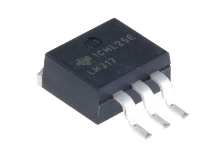 Texas Instruments, 1.25 → 37 V Linear Voltage Regulator, 1.5A, 1-Channel, Adjustable 3-Pin, D2PAK LM317KTTR