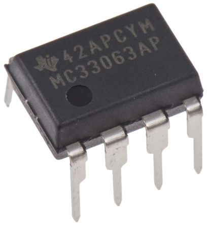 Texas Instruments MC33063AP, 1, Buck/Boost Converter 1.5A 8-Pin, PDIP
