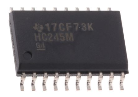 Texas Instruments CD74HC245M96, 1 Bus Transceiver, Bus Transceiver, 8-Bit Non-Inverting CMOS, 20-Pin SOIC