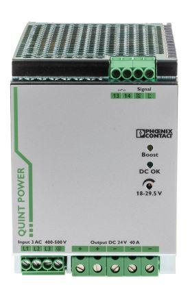 Phoenix Contact PSU - 400V ac Input Voltage, 24V dc Output Voltage, 40A Output Current