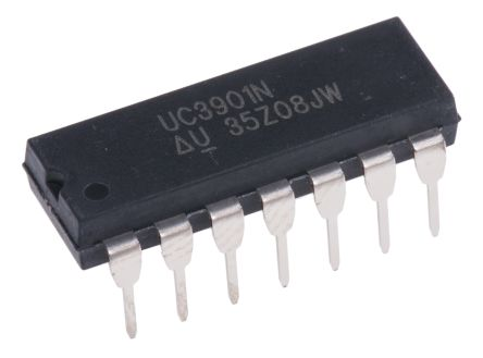 Texas Instruments UC3901N, Feedback Signal Generator Isolated Feedback Generator 1.5V Ref. 40 V, 14-Pin PDIP