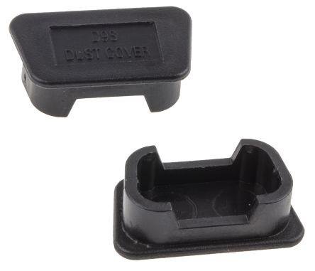 Female 9 Way D-sub Connector Dust Cap, Carbon Black Reinforced PP