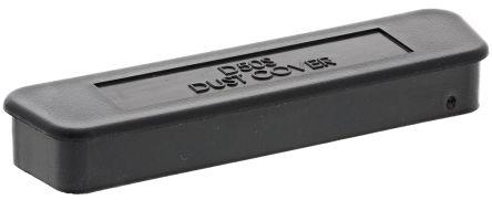 Female 50 Way D-sub Connector Dust Cap, Carbon Black Reinforced PP