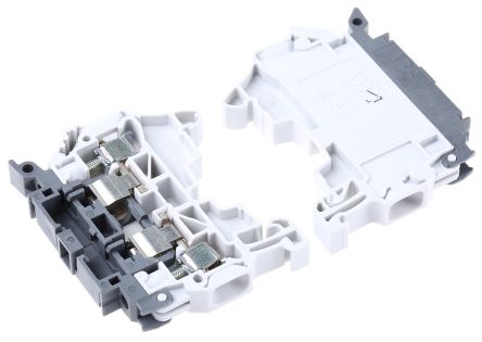 Entrelec, Grey, SNK Series, 6.3A Fused DIN Rail Terminal
