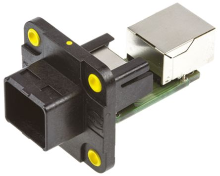 Harting Female Cat5 RJ45 Connector, Panel Mount, Shielded